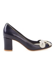 Sarah Chofakian Leather Pumps Women Goat Skin 40 Blue
