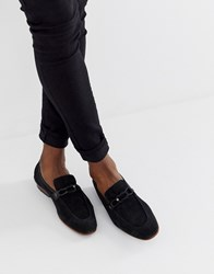 Ted Baker Siblac Loafers In Black Suede