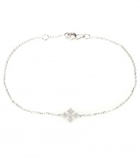 Stone Passion Simple 18Kt White Gold Bracelet With Diamonds Metallic