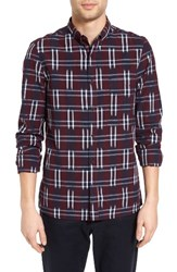 French Connection Men's Ikat Check Sport Shirt