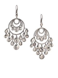 John Hardy Palu Sterling Silver Disc Chandelier Earrings