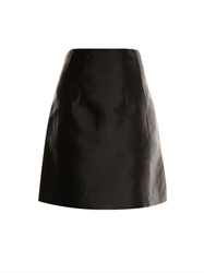 Carven Silk Twill A Line Skirt