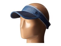 Original Penguin Color Blocked Chambray Visor Indigo Denim Casual Visor Blue