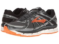 Brooks Adrenaline Gts 17 Black Anthracite Red Orange Men's Running Shoes