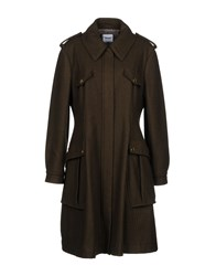 Moschino Cheap And Chic Coats Military Green