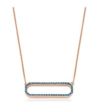 Monica Vinader Naida Rectangle Open Necklace Female Rose Gold