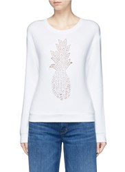 Chloe Pineapple Embroidered Sweatshirt White