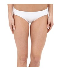 Becca Color Code American Side Tab Bottom White Women's Swimwear