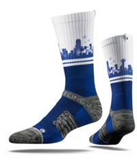 Strideline Dallas City Socks White Blue Heather Gray