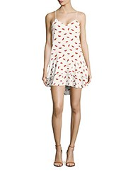 Cooper And Ella Printed High Low V Neck Dress Watermelon