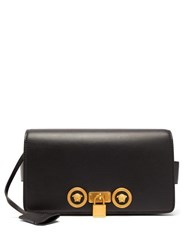 Versace Medusa Plaque Leather Belt Bag Black