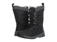 Columbia Meadows Omni Heat 3D Black Steam Cold Weather Boots Gray