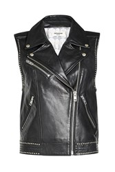 Zadig And Voltaire Studded Leather Biker Vest