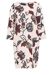 Hallhuber Floral Print Crepe Dress Multi Coloured
