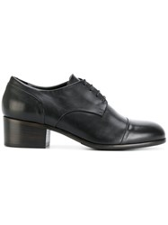 Ink Heeled Oxford Shoes Calf Leather Leather Rubber Black