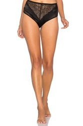 Else Signature Silk And Lace High Waist Brief Black