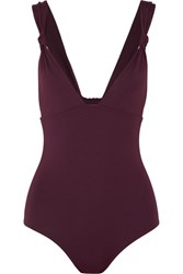 Eres Poker Prime Knotted Swimsuit Plum