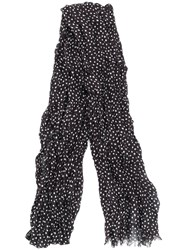 John Varvatos Polka Dot Scarf Black