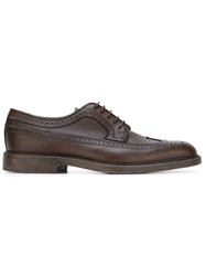 Henderson Fusion Brogue Shoes Brown