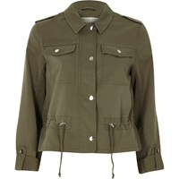 River Island Womens Khaki Green Military Jacket