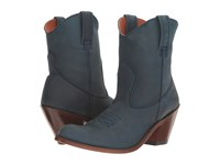 Dan Post Carrie Navy Suede Round Toe Cowboy Boots