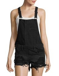 Blank Nyc Distressed Denim Overalls Rock Steady