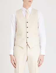 Tiger Of Sweden Litt Wool Linen And Silk Blend Waistcoat Cream