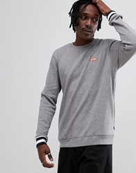 Globe Sweatshirt With Contrast Cuffs And Logo In Grey