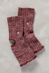 Anthropologie Ribbed Yoga Socks Wine