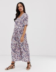 Y.A.S Paisley Print Tiered Maxi Dress Multi