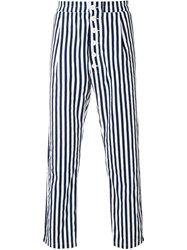Sunnei Vertical Stripe Trousers Blue