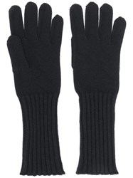 Cruciani Knitted Gloves Black