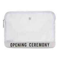 Opening Ceremony White Transparent Pouch