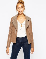 Barney's Originals Short Jacket With Single Pocket Detail Camel
