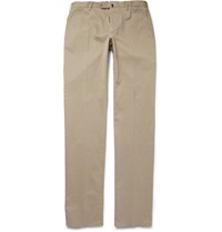Incotex Four Season Relaxed Fit Cotton Blend Chinos Neutrals