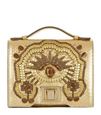 Andrew Gn Mini Brief Embellished Cross Body Bag Gold