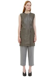 Acne Studios Civalo Sleeveless Leather Dress Grey