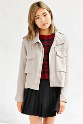Unif Two Pocket Cropped Jacket Brown