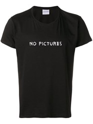 Nasaseasons No Pictures Embroidered T Shirt Black