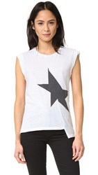 Pam And Gela Off Set Muscle Star Tee White