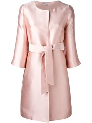 P.A.R.O.S.H. Belted Coat Pink Purple