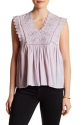 Rebecca Taylor Sleeveless Stitched Embroidered Shirt Pink