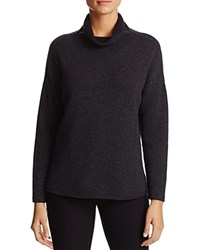 Eileen Fisher Drape Neck Cashmere Sweater Charcoal