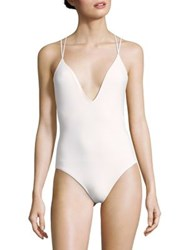 Michael Kors One Piece Strappy Swimsuit White