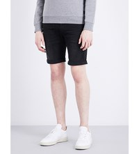 Replay Anbass Mid Rise Skinny Cotton Shorts Black Washed