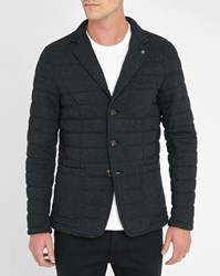 Scotch And Soda Charcoal 3 Button Quilted Wool Jacket
