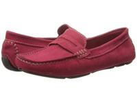Massimo Matteo Penny Keeper Burgundy Nubuck Moccasin Shoes