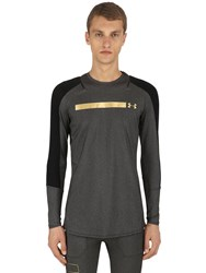 Under Armour Perpetual Printed Long Sleeve T Shirt Black Grey