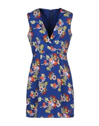 Walter Baker Short Dresses Blue
