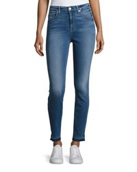 7 For All Mankind The High Waist Ankle Skinny Jeans With Released Hem B Air Sunset Indigo